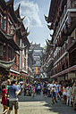 China, Shanghai, Yuyuan Old Street with fake historic Chinese buildings - NK000446