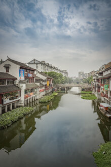 China, Shanghai, canal in Qibao Ancient Town - NKF000449