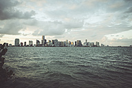 USA, Miami, view from Key Biscayne to the skyline of Miami - CHPF000210