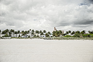 USA, Miami, view to beach on a stormy day - CHPF000219