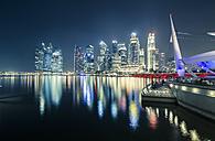 Singapore, Skyline of Singapore at night - STCF000155