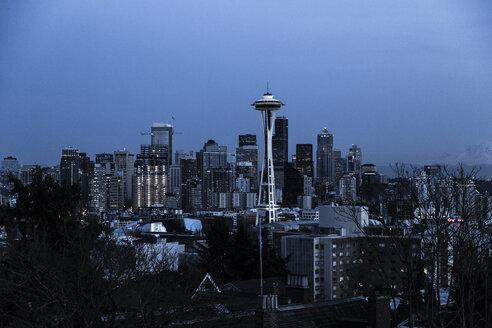 USA, Washington, Seattle, Cityscape at night - NGF000254