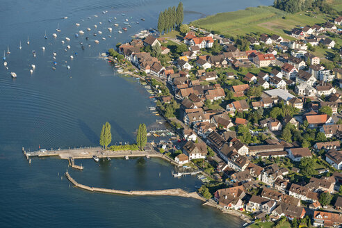 Switzerland, Arial view of Ermatingen at Lake Constance - SHF001815