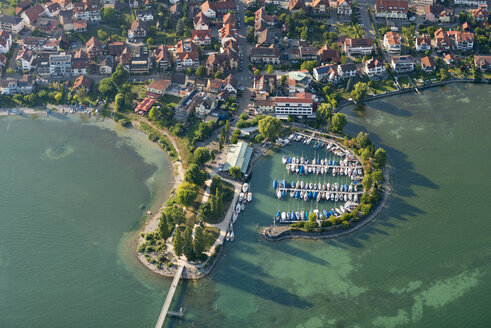 Germany, Lake Constance, Aerial view, Immenstaad, Hythe and marina - SHF001818