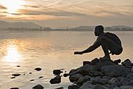Germany, Lake Constance, Radolfzell, El Nino statue - SH001839