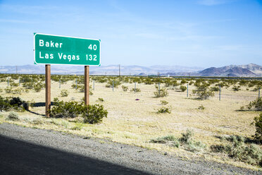 USA, Nevada, sign to Las Vegas - NGF000287