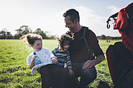 Father and his children having fun in the nature - BOYF000091