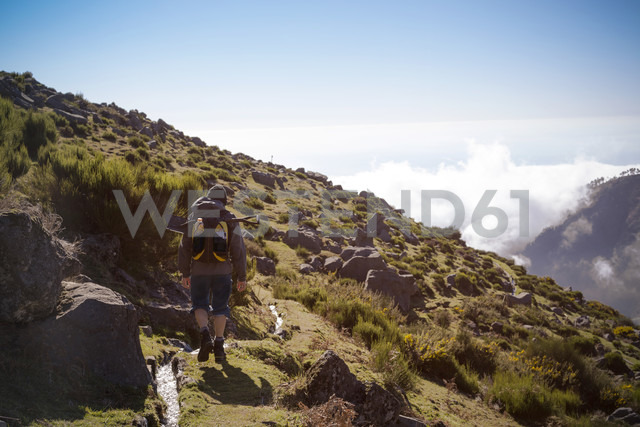 Portugal, Madeira, man on hiking trip along the Levadas - REAF000041 - realitybites/Westend61