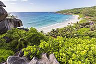Seychelles, La Digue, East Coast, Grand Anse beach - FOF008434
