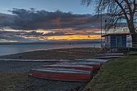 Germany, Baden-Wuerttemberg, Lake Constance, Sunrise at Lido Hoernle - KEBF000338