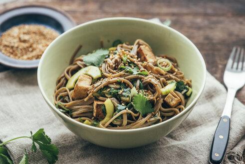 Japanese Otsu Salad with buckwheat noodles, Soba - IPF000283