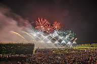 Germany, Hannover, international fireworks competition at Herrenhausen Gardens - PVCF000773