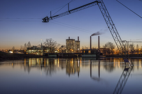 Germany, Wolfsburg, Autostadt in the evening - PVCF000781