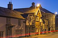 UK, Wales, Hay-on-Wye, Houses in Broad Street - SHF001870