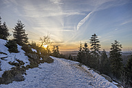 Germany, Saxony-Anhalt, Harz National Park, path in winter - PVCF000785