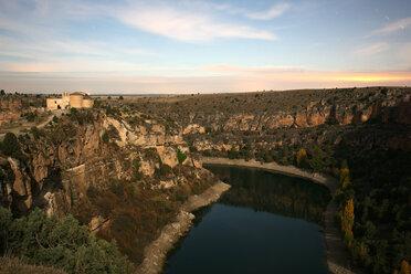 Spain, Sepulveda, view to Duraton River at Hoces del Rio Duraton Natural Park in autumn - DSGF000949