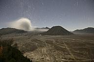 Indonesia, Java, Volcanos Bromo, Batok and Semeru at night - DSGF000998