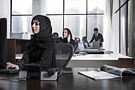 Middle Eastern businesswomen working in office - ZEF008578