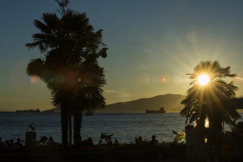 Canada, Vancouver, English Bay at sunset - NGF000309
