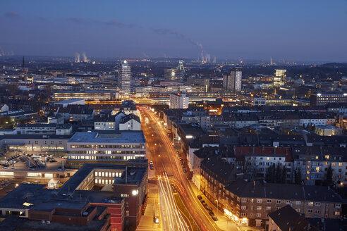 Germany, Bochum, cityscape in the evening - RHF001291