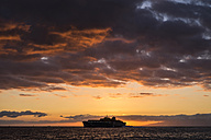 Spain, Tenerife, Ship on the ocean at sunset - SIPF000236