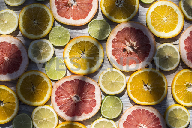 Slices of different citrus fruits - DEGF000683