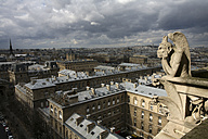 France, Paris, view over Paris from Notre Dame Cathedral - DSGF001049