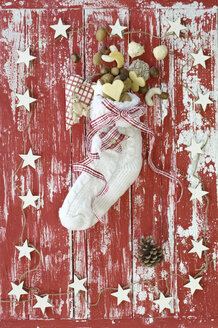 Sock filles with christmas cookies on St. Nicholas Day - ASF005856