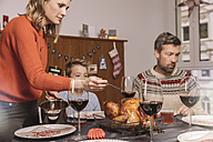 Family about to have Christmas dinner - MFF002846