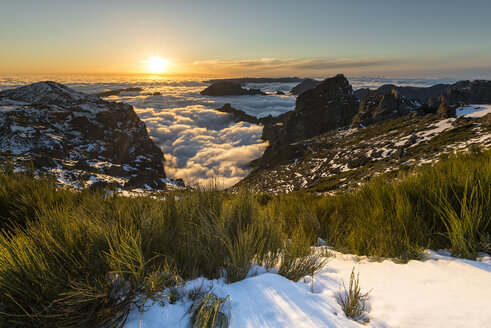 Portugal, Madeira, Pico do Arieiro at sunset - MKFF000266