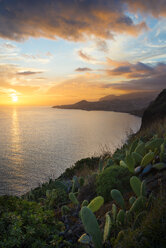 Portugal, Madeira, View of Funchal at sunset - MKFF000269