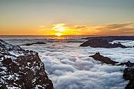 Portugal, Madeira, Sunset at Pico do Arieiro - MKFF000281