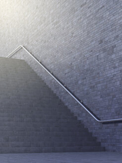 Empty staircase, 3d rendering - AHUF000125