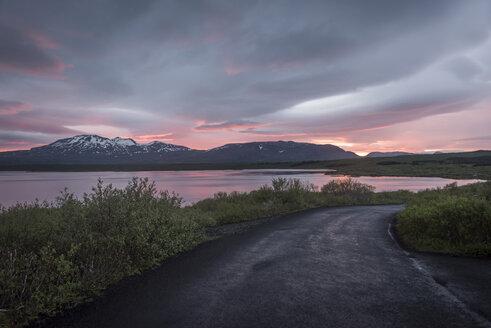 Iceland, Thingvellir National Park at midnight sun - PAF001672