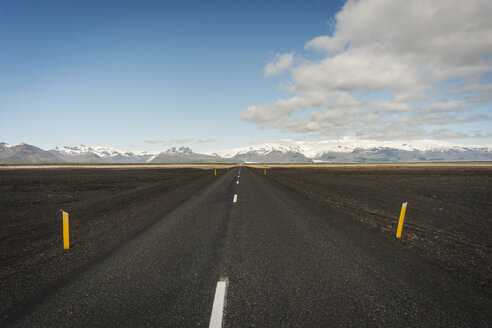 Iceland, empty road in Southern Iceland - PAF001684