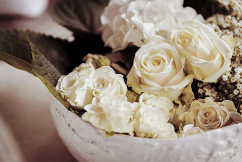 Festive, wedding, floral decoration, white roses - BMAF000091