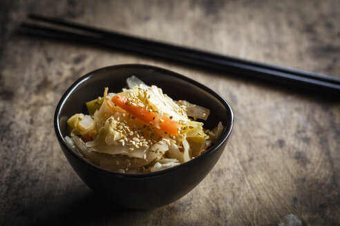Kimchi, fermented Korean side dish made of vegetables - EVGF002848