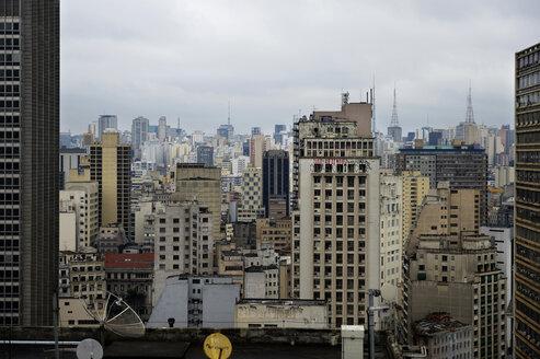 Brazil, Sao Paulo, City district Se, cityview, squat, Cortizo - FLKF000646
