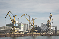 Germany, Warnemuende, Baltic Sea, Rostock Port, cranes - ASCF000553
