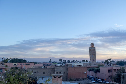 Morocco, Marrakesh in the evening - LMF000567