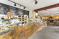 Indoor view of a modern coffee shop - TAMF000438