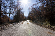 Empty mountain road at backlight - VABF000379