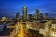 Germany, Hesse, Frankurt, Skyline in the evening - TIF000079