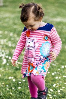 Little girl wearing fashionable dress - MGO001648