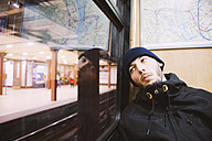 Hungary, Budapest, serious man in the subway - GEM000817
