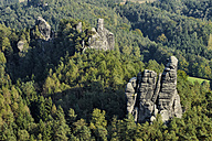 Germay, Saxony, Saxon Switzerland National Park, Honigsteine and Talwaechter rock formations - RUEF001690