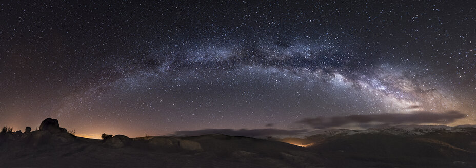 Spain, Milky way over mountains - EPF000043