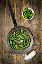 Frying pan with prepared Pimientos de Padron - LVF004695
