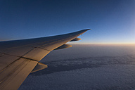 Wing of airplane over Europe - MAUF000385