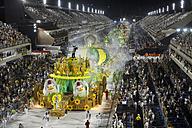 Brazil, Rio de Janeiro, Carnival float of Samba-school Imperatriz Leopoldinense - FLK000673